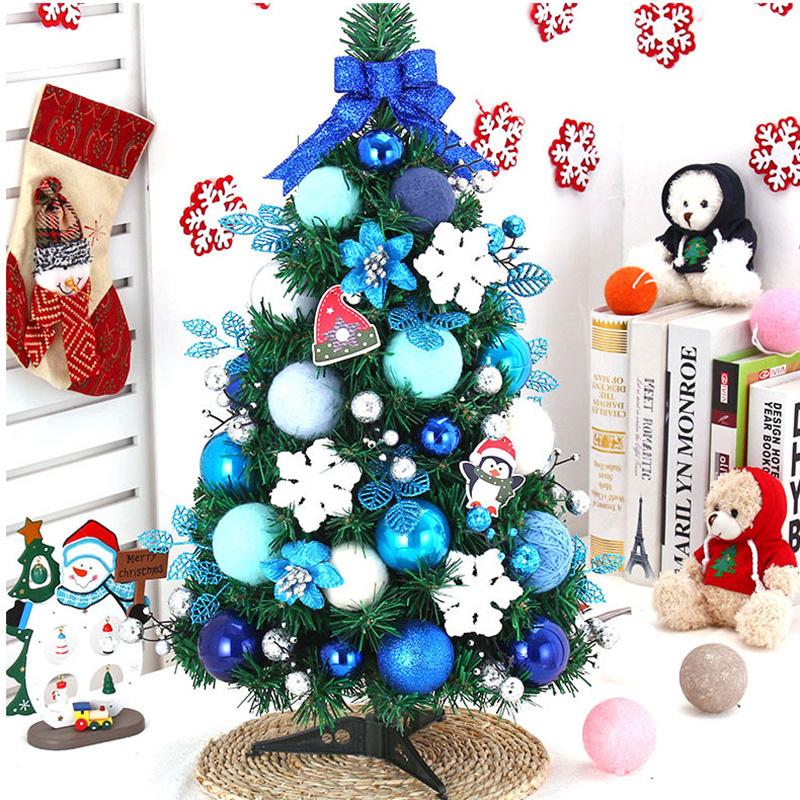Small Artificial Christmas Trees Blue 20 50cm Mini Plastic Tabletop Tree