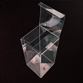 Factory price custom made clear plastic display hat box
