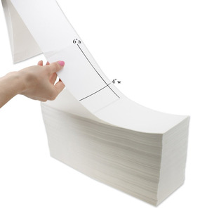 "Fanfold 4"" x 6""x2000 labels per stack direct thermal adhesive label with perforation,2 stacks each cartond"