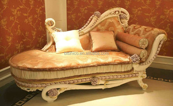 Luxury French Rococo Style Wooden Living Room Chaise