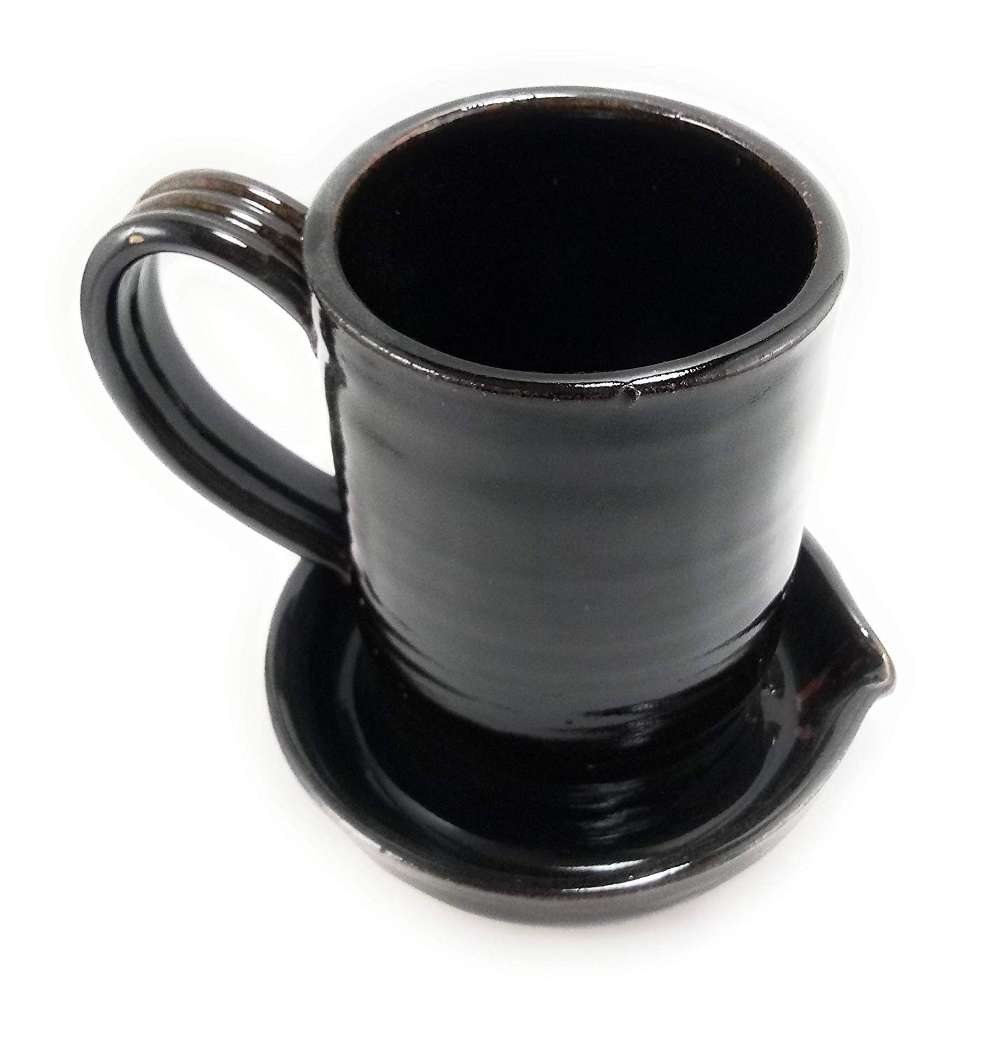 Aunt Chris' Pottery - Heavy Hand Made - Bacon Cooker - Glazed Dark Brown - Unique New Way of Cooking Bacon - Microwave, Oven And Dishwasher Safe - Easy Clean Up - Great For Dorms, RV, Anywhere!