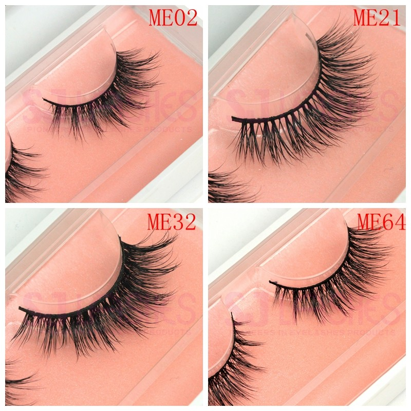 Luxury 100% Real Mink Fur Material 3D Lashes Transparent Band Mink Lashes