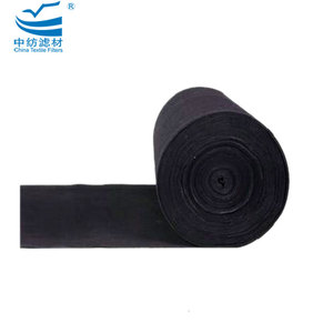 Odor absorbing activated carbon air filter fabric