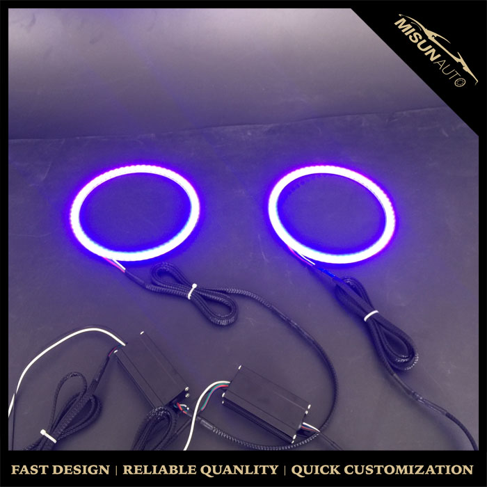 Xenon Headlight Switchback Angel Eyes Halo Rings Kit For BMW E36 E46 3 Series E39 5 Series E38 7 Series