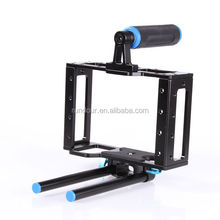 Rundour video camera cage rig grip support for 15mm rod rig Matte box Canon Nikon Camcorder DSLR NHL-ca15