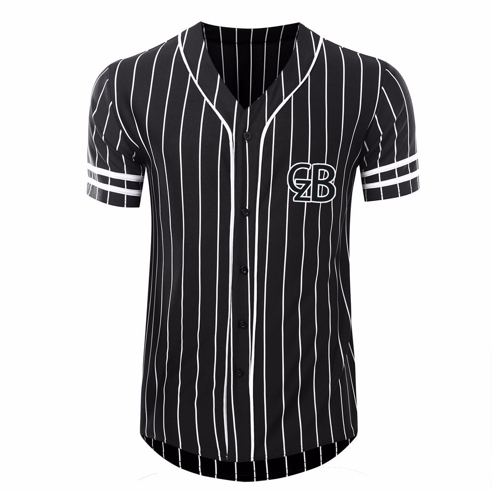 Striped baseball jersey