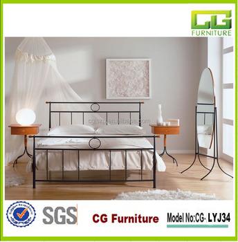 2015 nieuw design slaapkamer meubilair kinderbed smeedijzeren bed