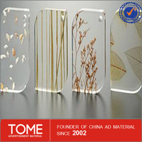 christmas plastic plates/outdoor advertising transparent acrylic sheet/clear or color acrylic board