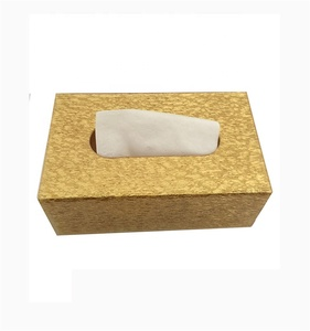 210*120*70 High End New Listing Personality Rectangular Golden Tissue Box