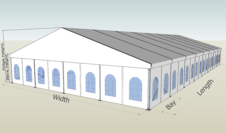 1000 People Church Tent With Clear Windows For Sale in South Africa