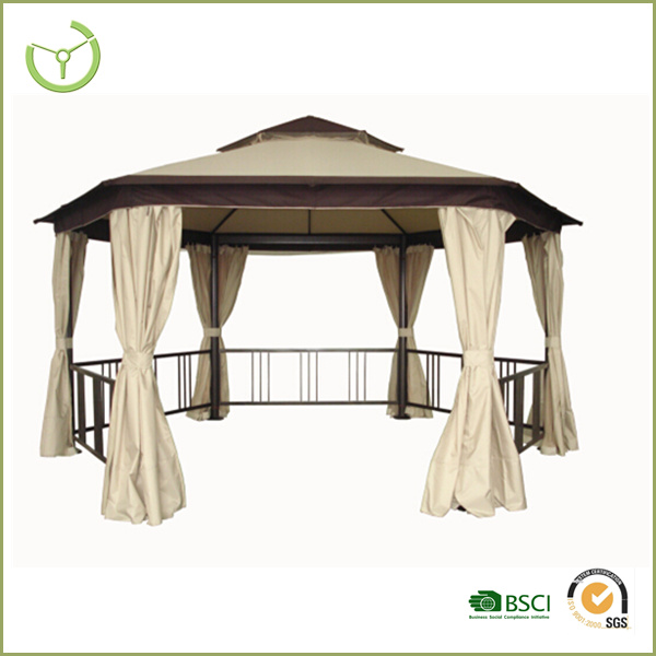 High quality outdoor roman gazebo with mosquito net and side wall-five fences