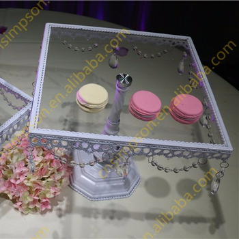 Square Crystal Cake Stand Glass Cake Stand For Sale Wedding Cake