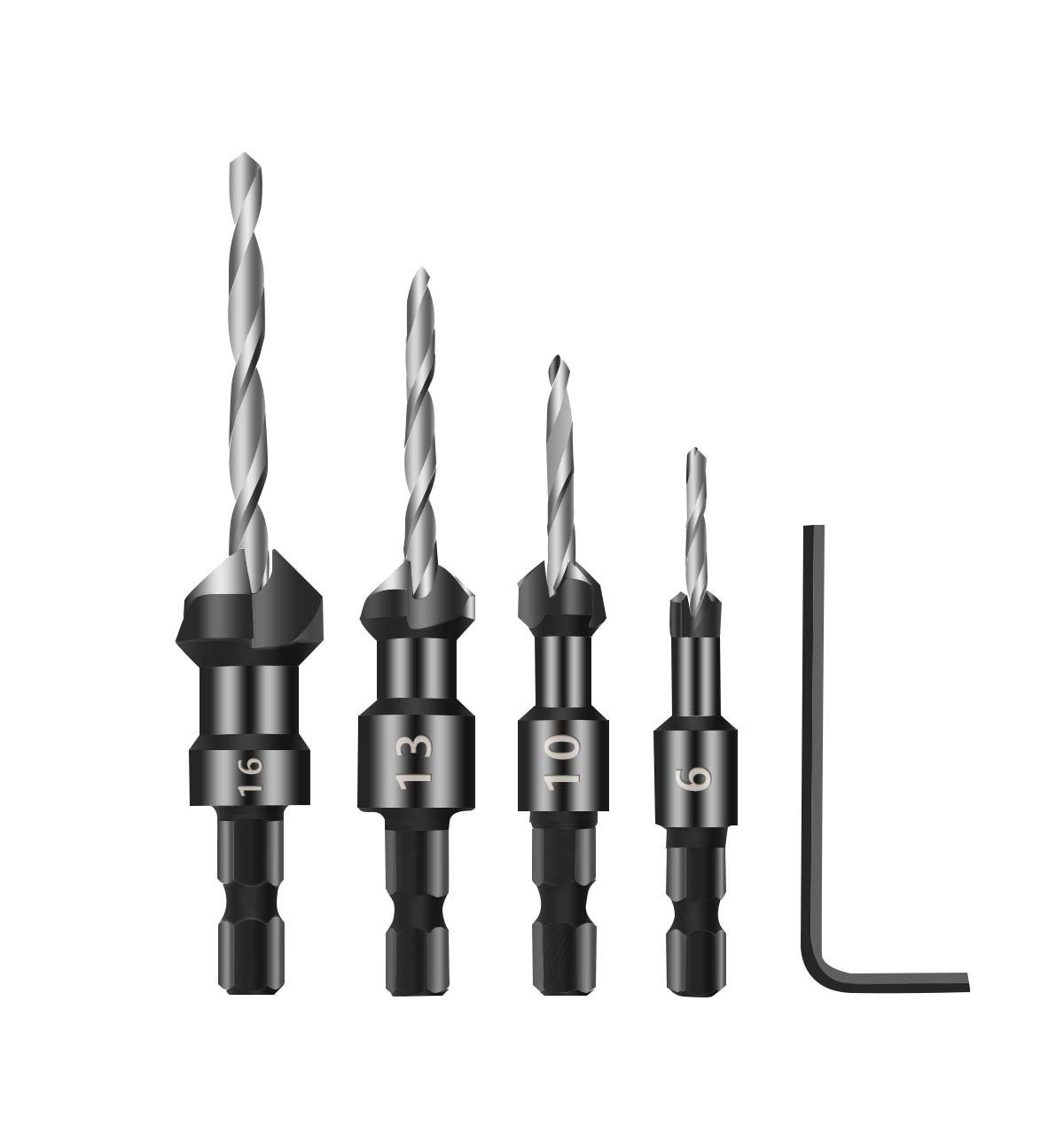Hand & Power Tool Accessories Hho 6mm Long Combination Wood Borer Carpente Auger Drill Bit Back To Search Resultstools