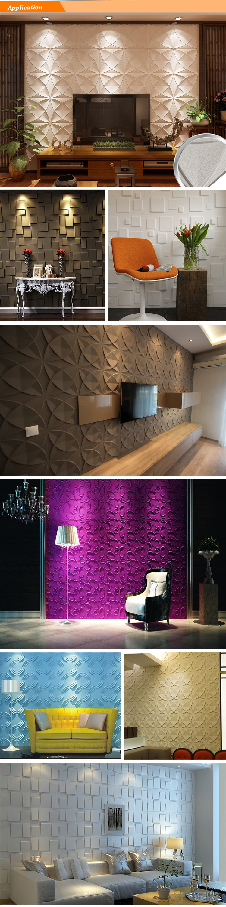 3d Decoration Resistant Material Concrete Texture 3d Wall Panel Wallpaper