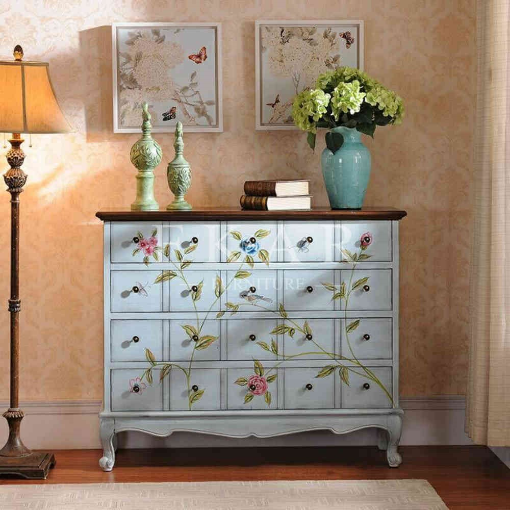 Muebles pintados vintage top alacena rustica pintada with - Muebles antiguos pintados ...