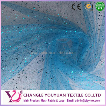 wholesale sequin tulle fabric shining tulle fabric