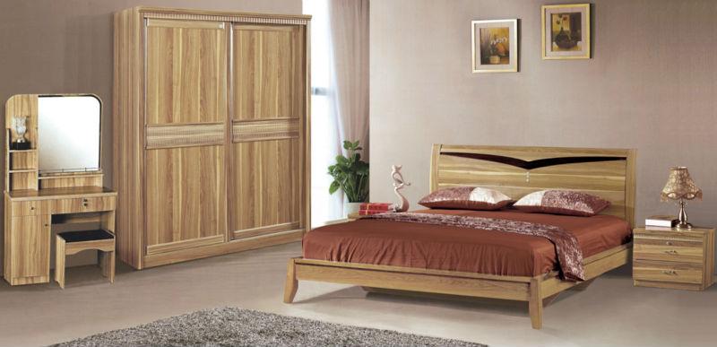 China Bedroom Set 8606 China Bed Night Stand Modern Wooden Bedroom ...