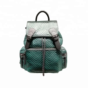 Uniquely designed fashionable leather backpack bag male school backpack