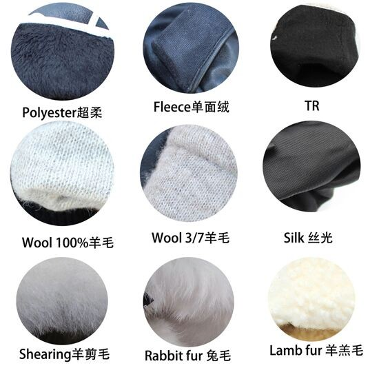 wholesale Ladies' high-grade fashion sheepskin and wool patched gloves