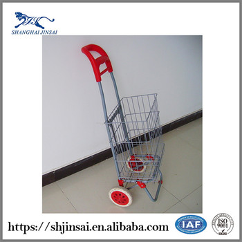 Hot Selling In China Market Big Capacity Multi-function Supermarket Steel Mini Shopping Cart