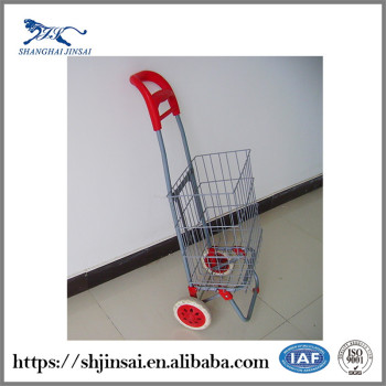 Supermarket Steel Holder Printing Logo Mini Shopping Cart