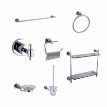 Modern design perfect detail muur gehangen mounted chrome <span class=keywords><strong>bad</strong></span> set 304 rvs wc badkamer <span class=keywords><strong>accessoires</strong></span> sets