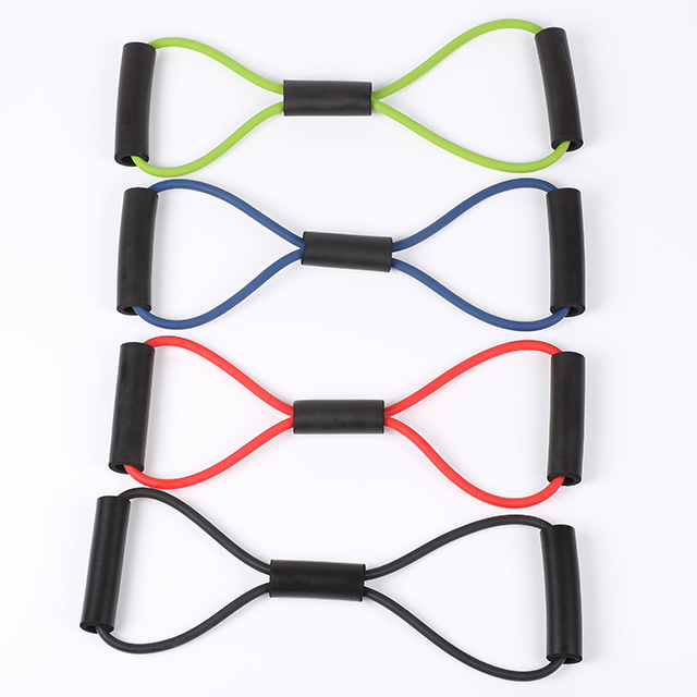 High Quality Yoga Pilates Latex Strength Resistance Band Exercise Tubes