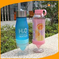 450ML-800ML Sports Plastic Lemon Water Bottle with Filter