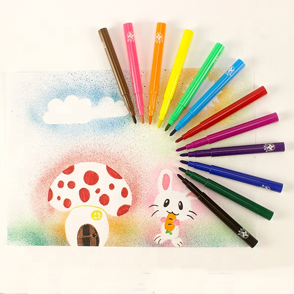 KHY Custom School Promotional Gift Brush Watercolor Marker Pen Set for Kids
