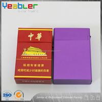 Promotional vintage silver cigarette case box