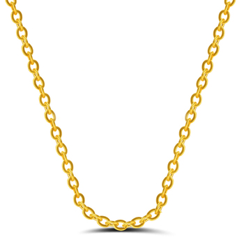 RINNTIN SC06 Bulk 925 Sterling Silver Gold Plated Necklace Chain for Women Jewellery Fashion