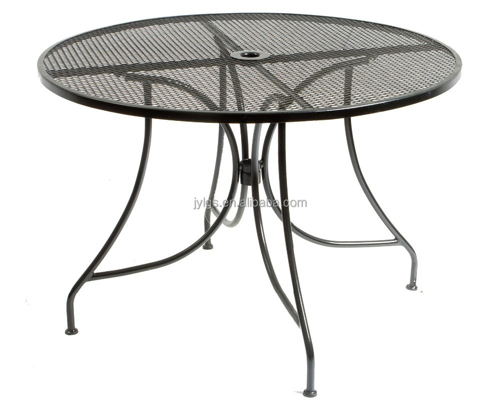Metal Mesh Patio Dining Table Amazon com Strathwood Basics Steel