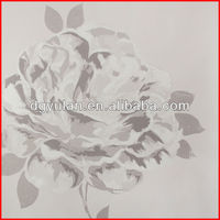 Elegant Rose Floral Negative Ion Functional Vinyl Wall Paper