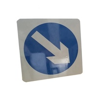 RTS Reflective Warning Round Aluminum Sign Blanks