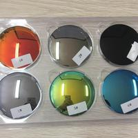 1.499 cr39 uncoated/mirror coating eye color lenses