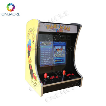 Hot selling 19 inch table top wooden mini arcade game machine bartop arcade cabinet with classical jamma multi games