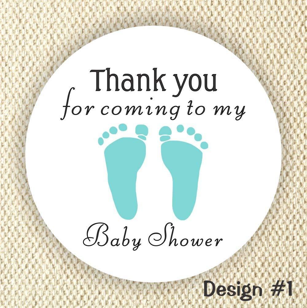 It's a Boy stickers - Baby Shower Stickers - Footprint Baby Boy stickers