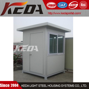 EPS sandwich panel mobile security booth is used for park guard house for sale