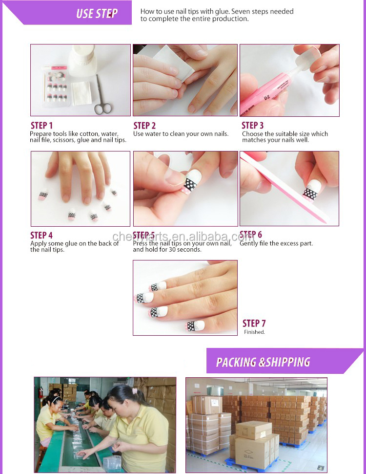High Quality Dual Form System 100Pcs/ Box ABS Material Nail Art Tips