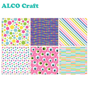 6x6 monsters design decorative printing scrapbook paper for card