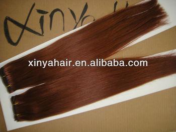 Natural Look Auburn Peruvian Straight Hair Weave Color 130 Whole Distributors