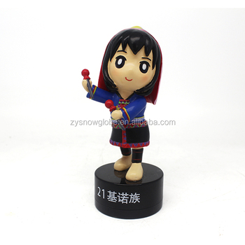 2018 little baby dancing girl figurines