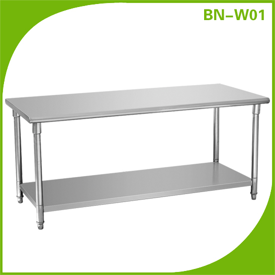Restaurant stainless steel catering table