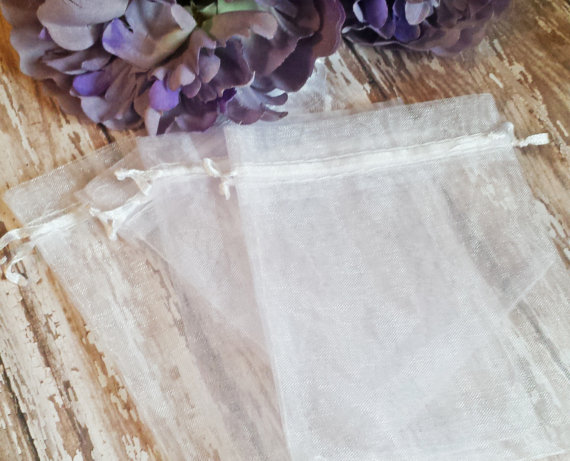 White Organza Bags for Weddings Gifts Baby bags Bridesmaids gifts Jewelry packaging Wedding Favors etc