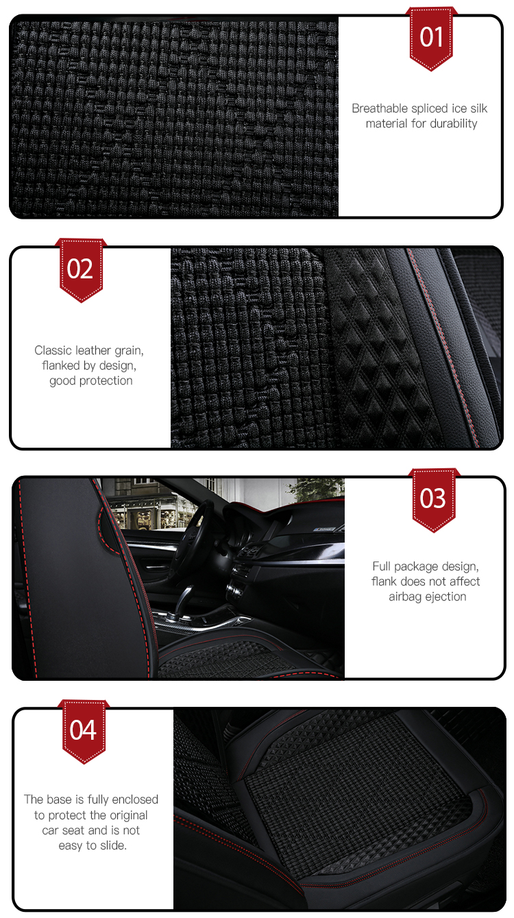 Full surround Car Interior Ice Silk Leather Car Cushion Cover
