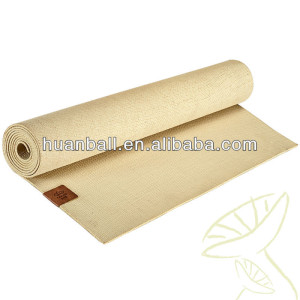 Latex free colorful eva tpe rubber jute yoga mat