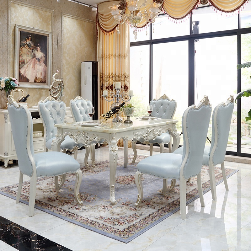 Luxury White Dining Furniture Antique Hand-carved Flowers Marble Dining  Table Chairs Set - Buy Luxury Dining Table Set,Antique Hand Carved Table ...