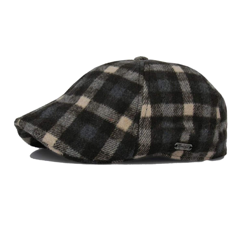 fd9c39f9c Buy Plaid Wool Duckbill Stripe Gatsby Cap Mens Ivy Hat Golf Driving ...