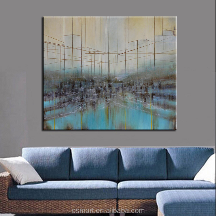 Art Supplies Wholesale Stretched Canvas Oil Painting Abstract ...