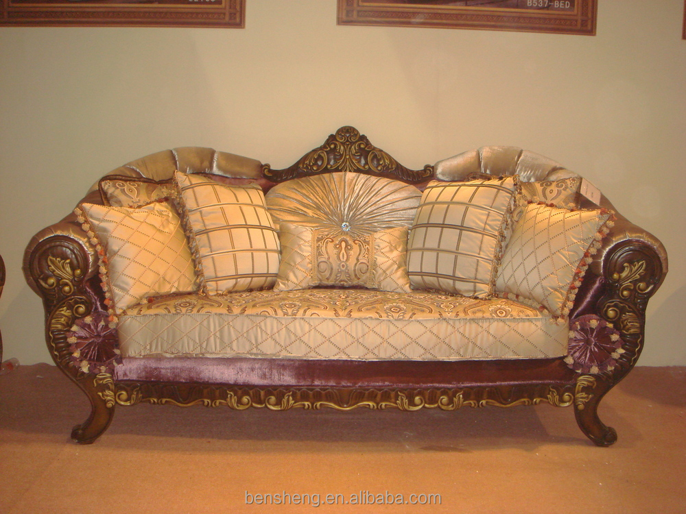 Carved sofa italian style wooden set designs hand